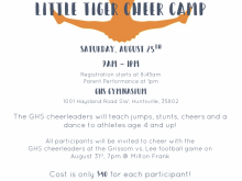 18 Free Printable Cheer Camp Flyer Template For Free by Cheer Camp Flyer Template