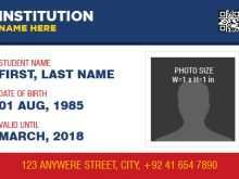 Id Card Template Free Download Word Portrait