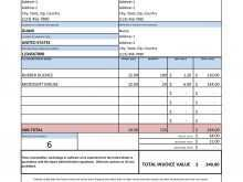 Microsoft Office Tax Invoice Template
