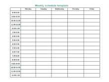 19 Adding 5 Day Class Schedule Template Download by 5 Day Class Schedule Template