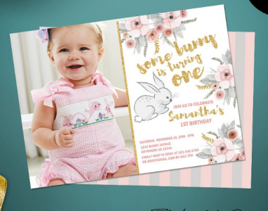 Invitation Card Template For 1st