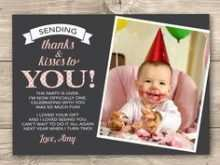 19 Best Thank You Card Template 1St Birthday in Word for Thank You Card Template 1St Birthday