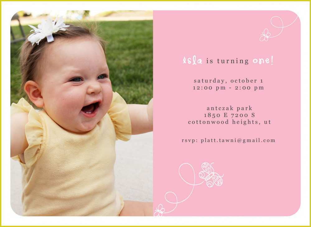 19 Create 1 Birthday Invitation Card Template in Word by 1 Birthday Invitation Card Template