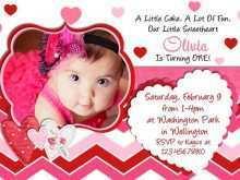1st Birthday Invitation Card Template