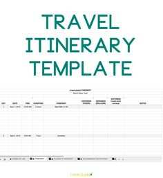 19 Create 3 Day Travel Itinerary Template With Stunning Design with 3 Day Travel Itinerary Template