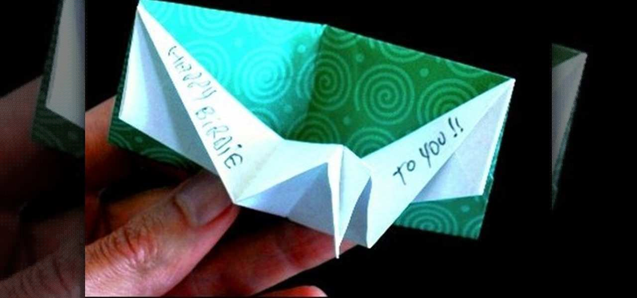 origami birthday card template  cards design templates