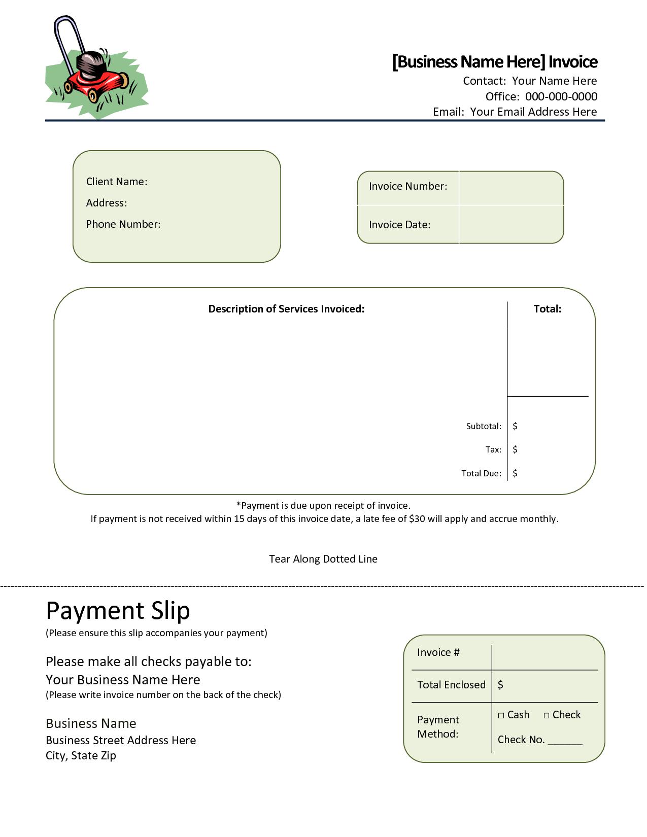 19 Creative Landscape Invoice Template Free For Free For Landscape Invoice Template Free Cards Design Templates