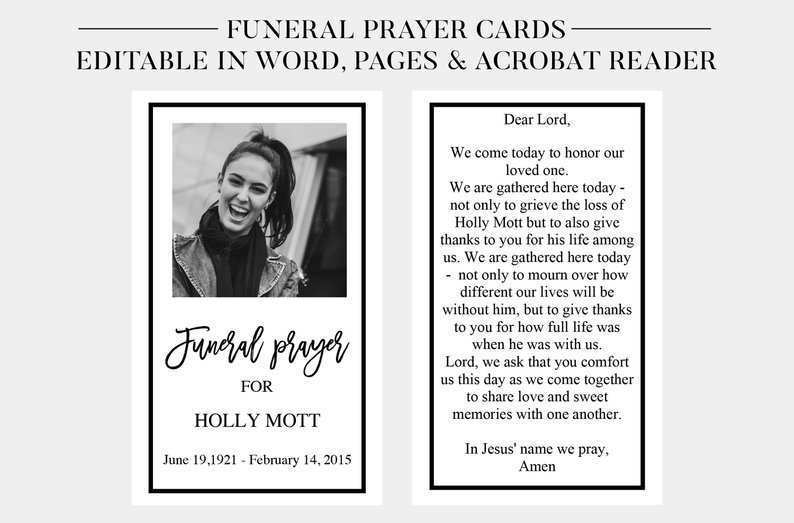 Prayer Card Template Free from legaldbol.com