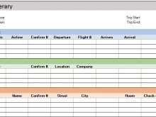 19 Customize Travel Itinerary Template Xls Maker for Travel Itinerary Template Xls