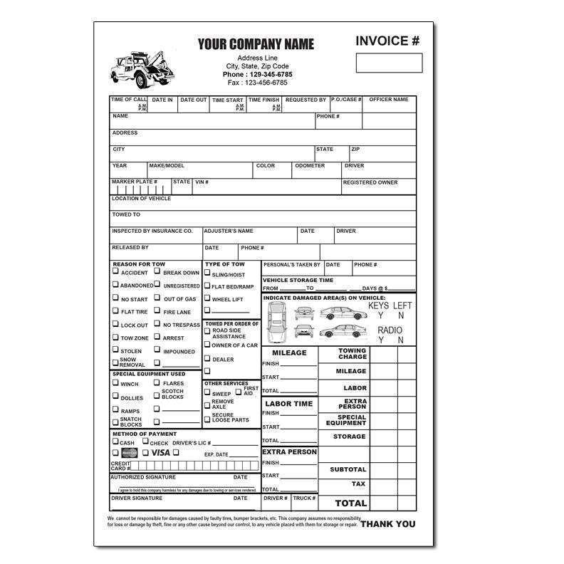 19 Format Blank Towing Invoice Template in Photoshop by Blank Towing Invoice Template