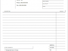 Blank Towing Invoice Template