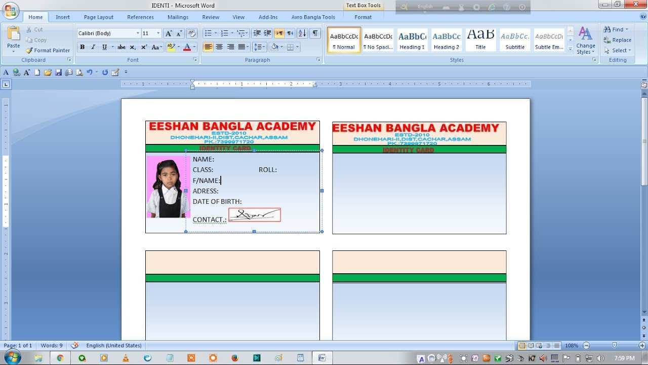 19 How To Create School Id Card Template In Word Download By School Id Card Template In Word Cards Design Templates
