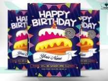 19 Online Birthday Flyer Template Psd in Word with Birthday Flyer Template Psd