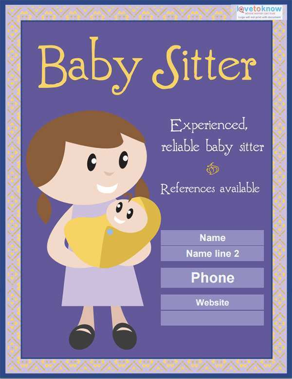 19 Report Babysitting Flyers Template For Free for Babysitting Flyers Template
