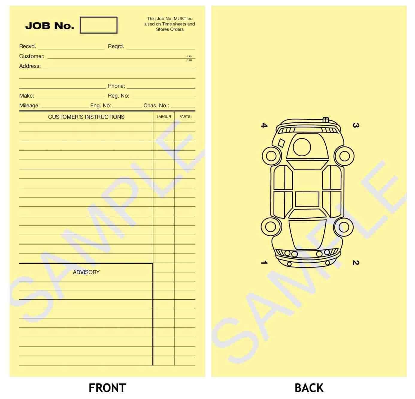 21 Standard Job Card Template Mechanic in Word for Job Card With Regard To Mechanics Job Card Template