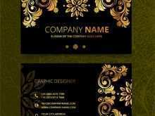 Illustrator Name Card Template Free