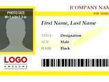 Portrait Id Card Template Word