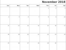 Daily Calendar Template November 2018