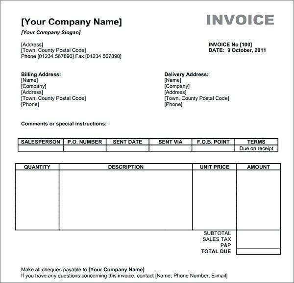 20 Adding Invoice Template Mac Formating for Invoice Template Mac