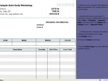 20 Create Automotive Repair Invoice Template in Photoshop by Automotive Repair Invoice Template