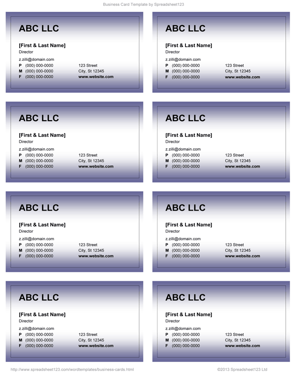 20 Create Business Card Templates Docx For Ms Word By Business Card Templates Docx Cards Design Templates