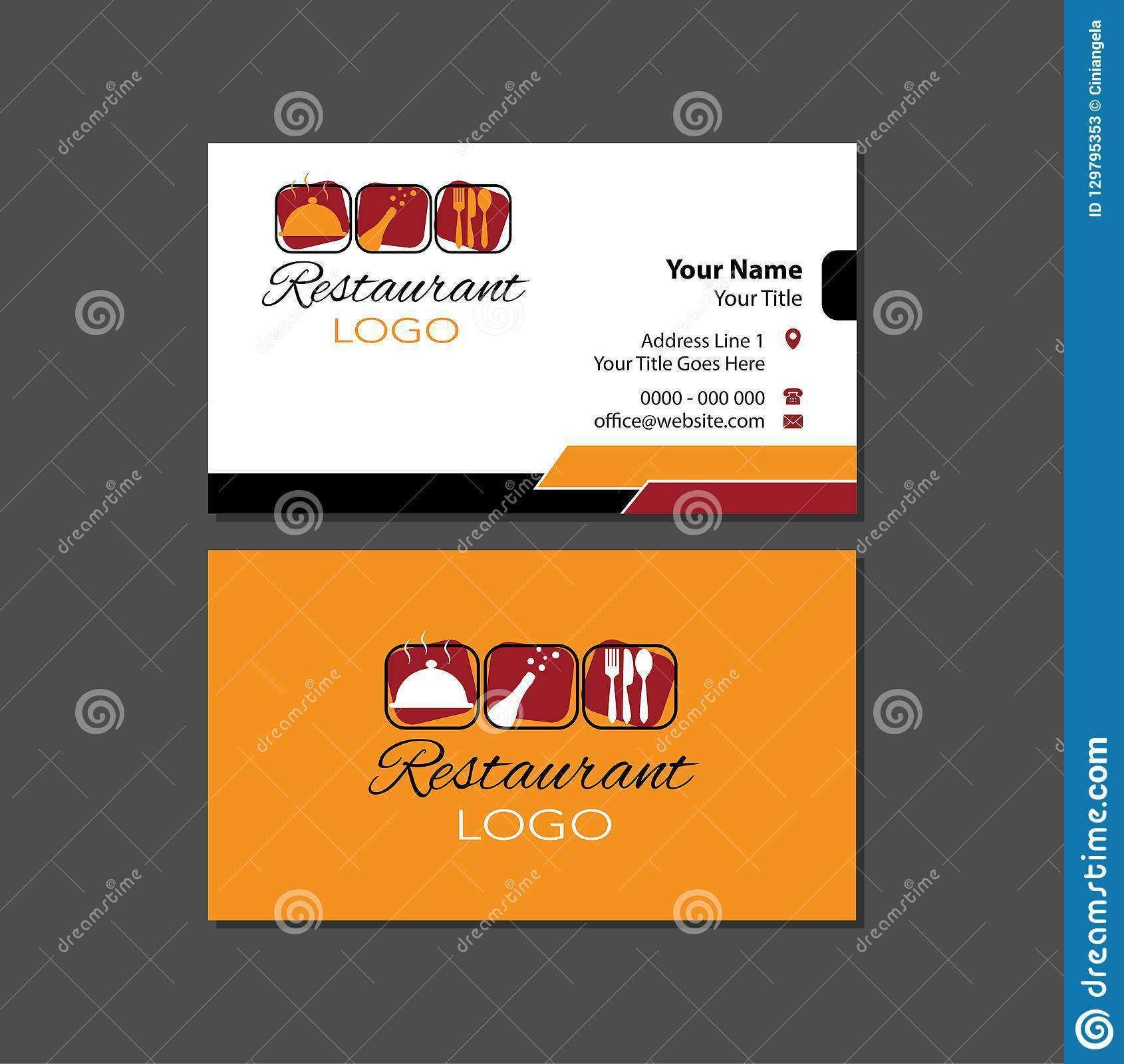 20 Format Business Card Template Restaurant Templates with Business Card Template Restaurant