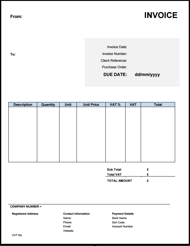 20 Format Cis Vat Invoice Template With Stunning Design by Cis Vat Invoice Template