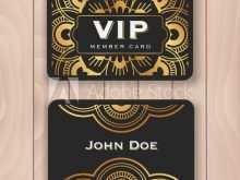 Vip Name Card Template