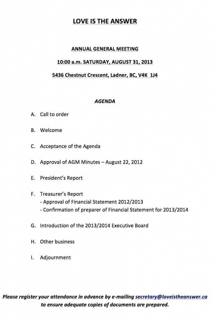 20 Free Agm Agenda Template Word in Word by Agm Agenda Template Word