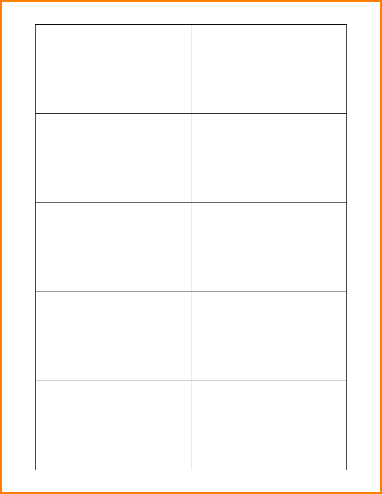 20 Free Printable Blank Business Card
