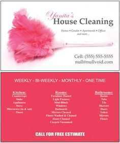20 Free Printable Business Card Template House Cleaning Now for Business Card Template House Cleaning