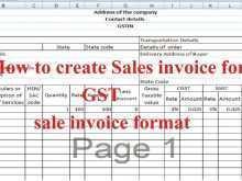 Tax Invoice Format Maharashtra In Excel