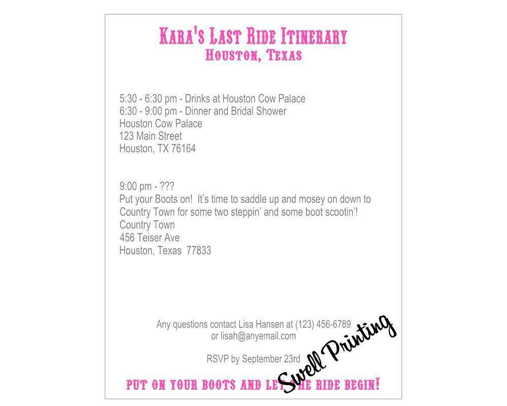 20 How To Create Baby Shower Agenda Example in Word with Baby Shower Agenda Example
