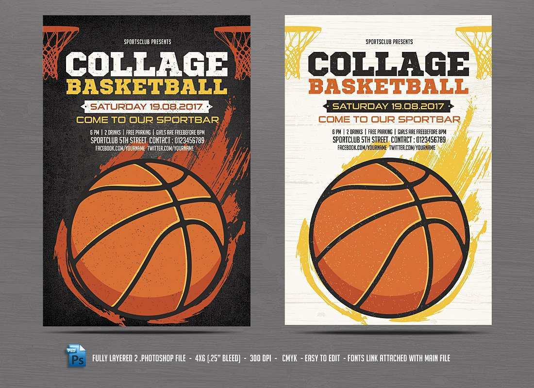 20 How To Create Basketball Game Flyer Template for Ms Word for Basketball Game Flyer Template