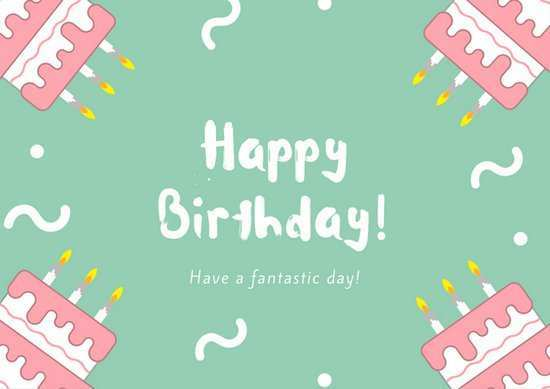 20 How To Create Birthday Card Template Green in Word with Birthday Card Template Green