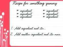 Holiday Recipe Card Template For Word