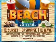 Volleyball Flyer Template Free