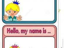 20 Online Child Name Card Template Templates with Child Name Card Template