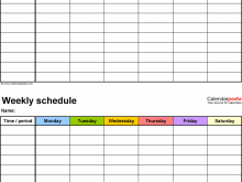 20 Printable Class Schedule Template Microsoft Word Maker by Class Schedule Template Microsoft Word