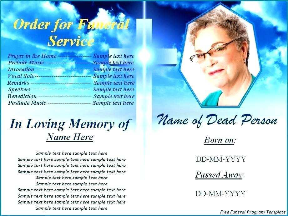 20 Printable Funeral Flyer Templates Layouts with Funeral Flyer Templates