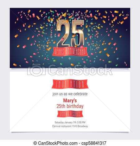 20 Report 25Th Birthday Card Template in Word for 25Th Birthday Card Template