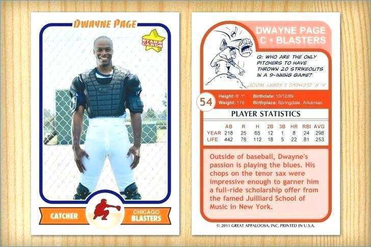 20 Report Baseball Card Template For Word Photo with Baseball Card Template For Word