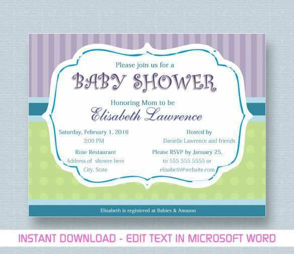 20 Standard Baby Card Template Microsoft Word Download by Baby Card Template Microsoft Word