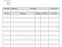 20 Standard Blank Billing Invoice Template Pdf Formating by Blank Billing Invoice Template Pdf