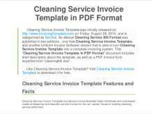 Invoice Template For Cleaning Company