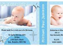 Invitation Card Sample Christening