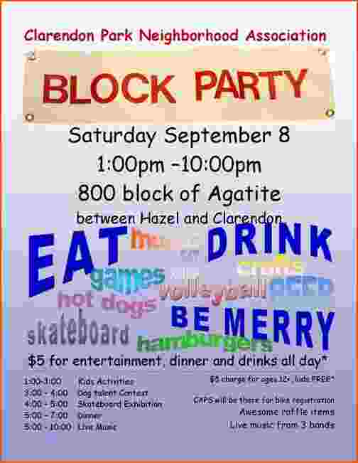 21 Create Block Party Template Flyer for Ms Word for Block Party Template Flyer