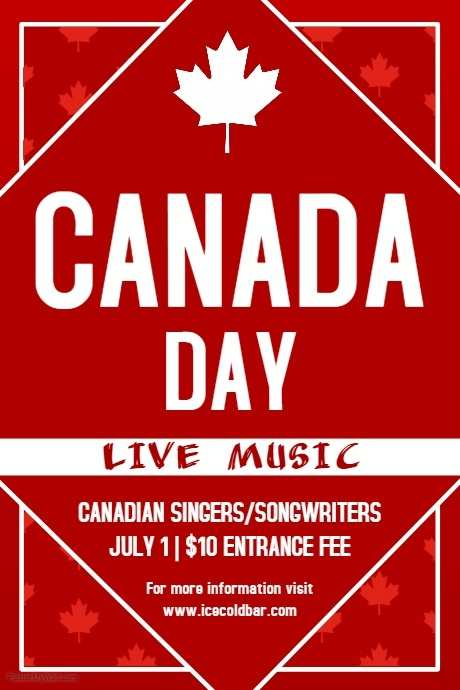 21 Customize Our Free Canada Day Flyer Template For Free by Canada Day Flyer Template