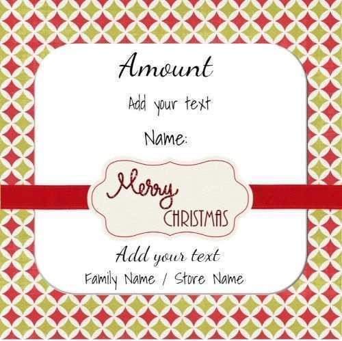 21 Customize Our Free Christmas Gift Card Template Download for Ms Word with Christmas Gift Card Template Download