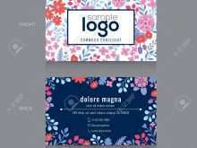 21 Customize Our Free Floral Name Card Template Free Maker for Floral Name Card Template Free